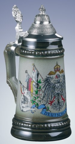 German Beer Stein Eagle with Germany Flags 1/4L